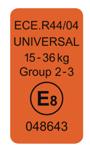 Normes européenes ECE R44/04
